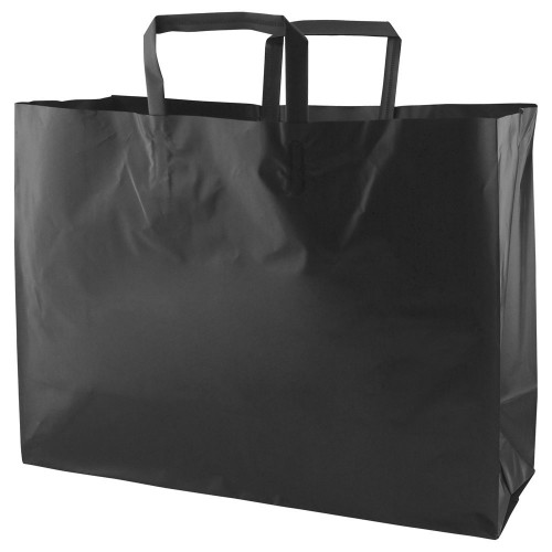 COLOR FROSTED TRI-FOLD HANDLE SHOPPING BAGS
